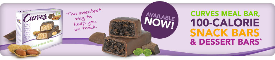 Coming Soon! New Curves meal bars and 100-calorie snack bars